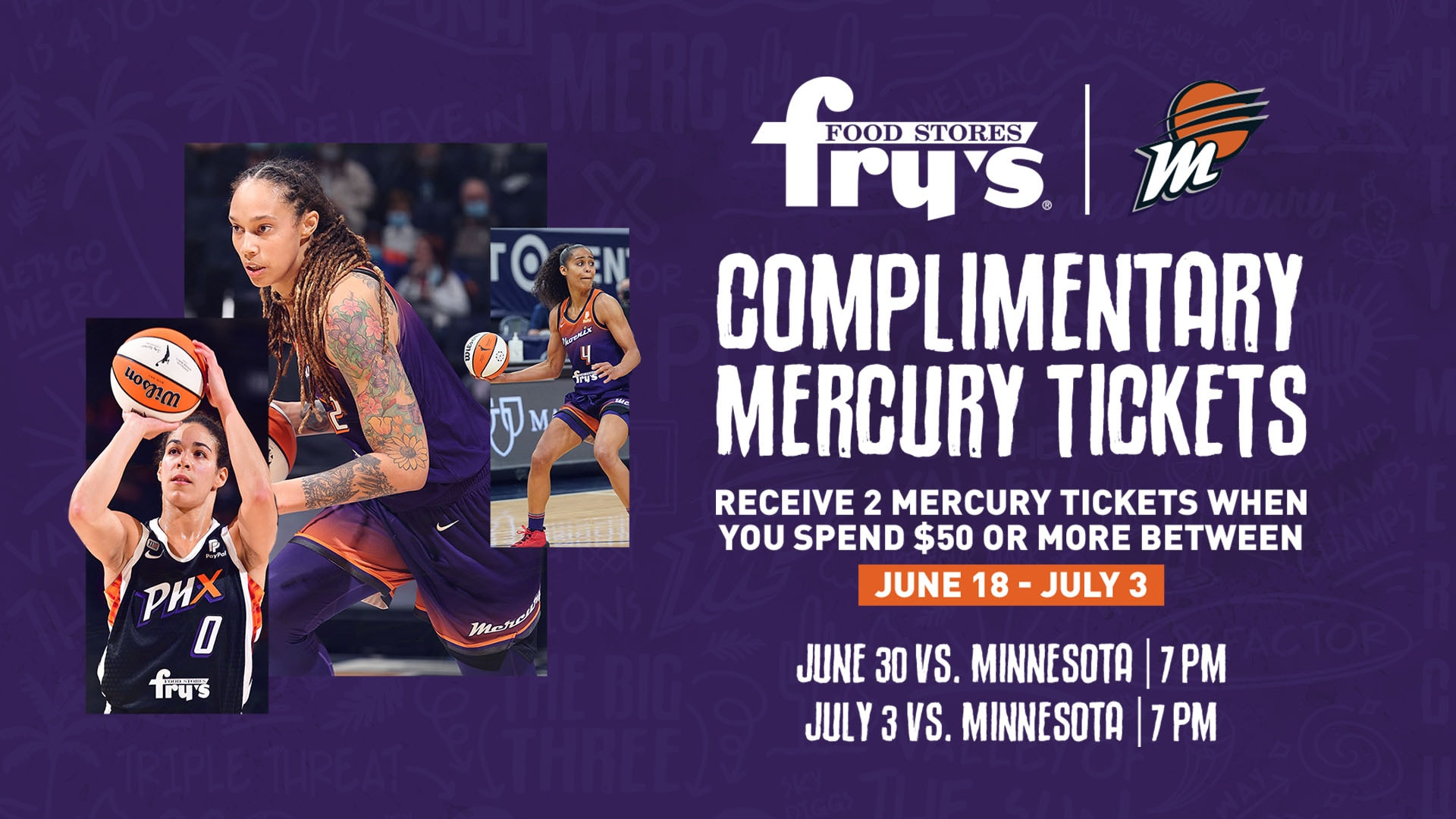 Complimentary Mercury Tickets at Fry's Food Stores