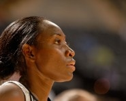 SAN ANTONIO - JUNE 20 :  Sophia Young #33 of the San Antonio Silver Stars looks across the court during the WNBA game against the Minnesota Lynx on June 20 , 2007 at the AT&T Center in San Antonio, Texas. The Silver Stars won 80-73. NOTE TO USER: User expressly acknowledges and agrees that, by downloading and/or using this Photograph, user is consenting to the terms and conditions of the Getty Images License Agreement. Mandatory Copyright Notice: Copyright 2007 NBAE (Photo by D. Clarke Evans/NBAE via Getty Images)