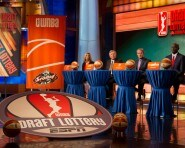 BRISTOL, CT - SEPTEMBER 24:  A wide angle view of the set during the 2015 WNBA Draft Lottery at ESPN Studios on September 24, 2015 in Bristol, Connecticut.. NOTE TO USER: User expressly acknowledges and agrees that, by downloading and/or using this Photograph, user is consenting to the terms and conditions of the Getty Images License Agreement. Mandatory Copyright Notice: Copyright 2015 NBAE (Photo by Chris Marion/NBAE via Getty Images)