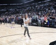 SAN ANTONIO, TX - June 25: at the AT&T Center on June 25, 2016 in San Antonio, Texas. NOTE TO USER: User expressly acknowledges and agrees that, by downloading and or using this photograph, User is consenting to the terms and conditions of the Getty Images License Agreement. Mandatory Copyright Notice: Copyright 2016 NBAE (Photo by Chris Covatta/NBAE via Getty Images)