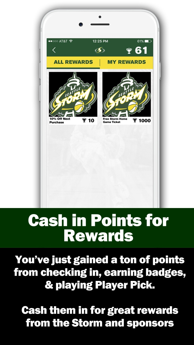 Cash in points for rewards