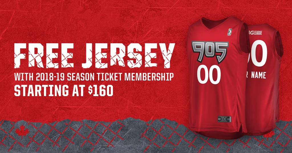 Free jersey with your season ticket membership