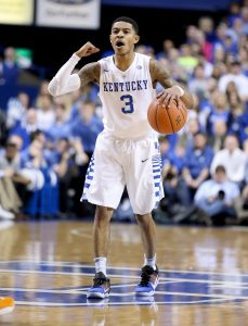 LEXINGTON, KY - FEBRUARY 18: Tyler Ulis #3 of the Kentucky Wildcats dribbles the ball during the game against the Tennessee Volunteers at Rupp Arena on February 18, 2016 in Lexington, Kentucky. (Photo by Andy Lyons/Getty Images)