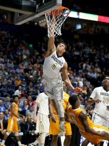 NASHVILLE, TN - MARCH 10: Wade Baldwin IV #4 of the Vanderbilt Commodores shoots the ball against the Tennessee Volunteers during the second round of the SEC Basketball Tournament at Bridgestone Arena on March 10, 2016 in Nashville, Tennessee. (Photo by Andy Lyons/Getty Images)