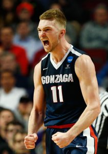 CHICAGO, IL - MARCH 25: Domantas Sabonis #11 of the Gonzaga Bulldogs reacts in the second half against the Syracuse Orange during the 2016 NCAA Men's Basketball Tournament Midwest Regional at United Center on March 25, 2016 in Chicago, Illinois. (Photo by Jamie Squire/Getty Images)
