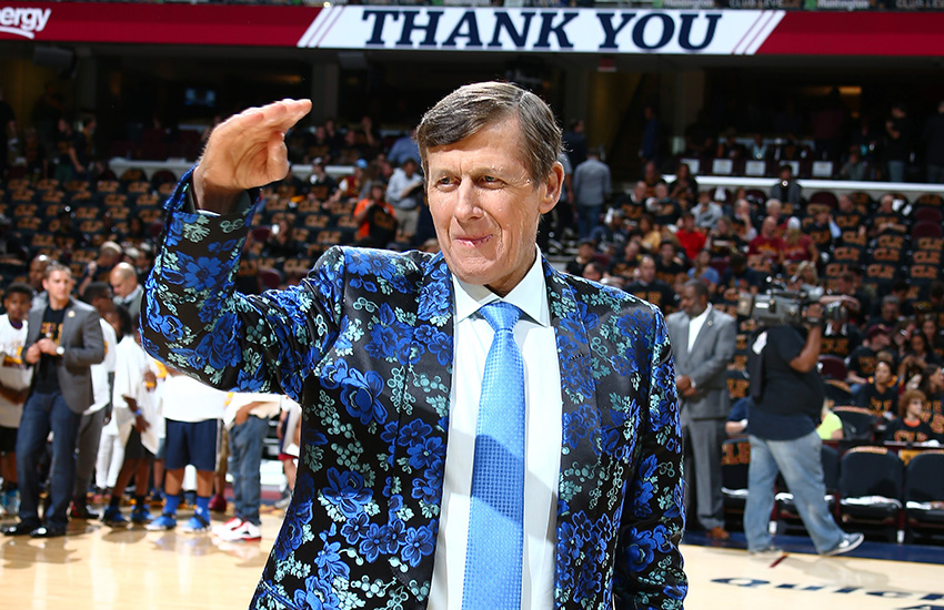 CLEVELAND, OH - JUNE 16: TV Personality Craig Sager is seen during the game between the Cleveland Cavaliers and the Golden State Warriors in Game Six of the 2016 NBA Finals on June 16, 2016 at Quicken Loans Arena in Cleveland, Ohio.  NOTE TO USER: User expressly acknowledges and agrees that, by downloading and or using this Photograph, user is consenting to the terms and conditions of the Getty Images License Agreement. Mandatory Copyright Notice: Copyright 2016 NBAE (Photo by Nathaniel S. Butler/NBAE via Getty Images)