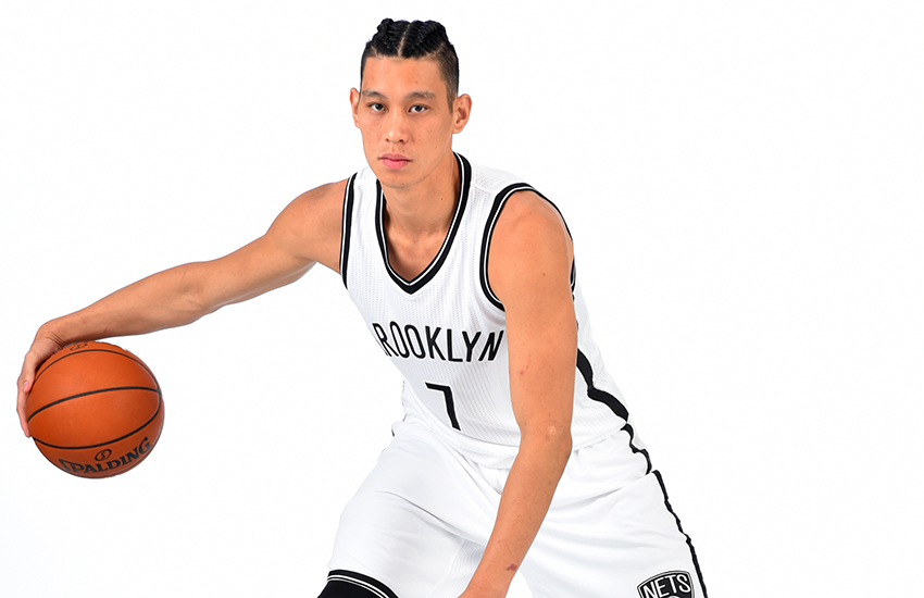 BROOKLYN, NY - JULY 20:  Jeremy Lin #7 of the Brooklyn Nets poses for a portrait at the HSS Training Facility on July 20, 2016 in Brooklyn, New York. NOTE TO USER: User expressly acknowledges and agrees that, by downloading and/or using this Photograph, user is consenting to the terms and conditions of the Getty Images License Agreement. Mandatory Copyright Notice: Copyright 2016 NBAE (Photo by Jesse D. Garrabrant/NBAE via Getty Images)