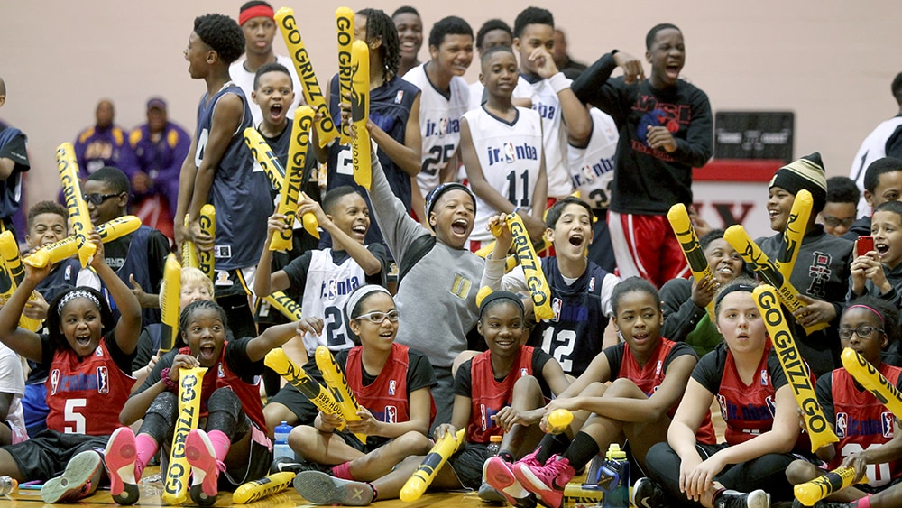 MEMPHIS, TN - JANUARY 17:  Jr. NBA MLK Jr. Weekend Tournament January 17, 2016 at the Mallory Gymnasium at Rhodes College in Memphis, Tennessee. NOTE TO USER: User expressly acknowledges and agrees that, by downloading and or using this photograph, User is consenting to the terms and conditions of the Getty Images License Agreement. Mandatory Copyright Notice: Copyright 2016 NBAE (Photo by Nikki Boertman/NBAE via Getty Images)