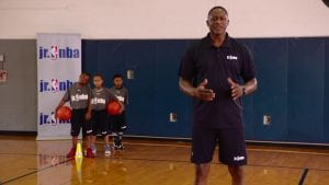 Watch NBA legend Dominique Wilkins work on good closeouts to help with individual defense in the Closeout 1 on 1 Drill.