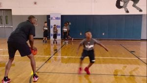 Watch NBA legend Dominique Wilkins work on different defensive techniques to stay in front of an opponent with the Closeout, Slide and Backpedal Drill.