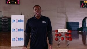 Watch NBA Coach Randy Brown teach footwork and effort in the Backpedal, Slide and Sprint drill to help players practice different movements.