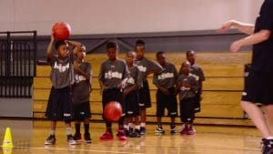 Watch Jr. NBA Coach Jeremiah Boswell teach basic passing and cutting motions on offense to learn the fundamentals of the Give and Go Drill.
