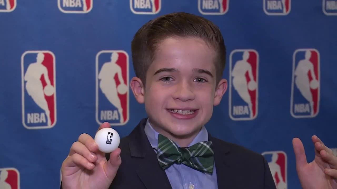 Jr. NBA Reporter Max Bonnstetter at the NBA Draft Lottery