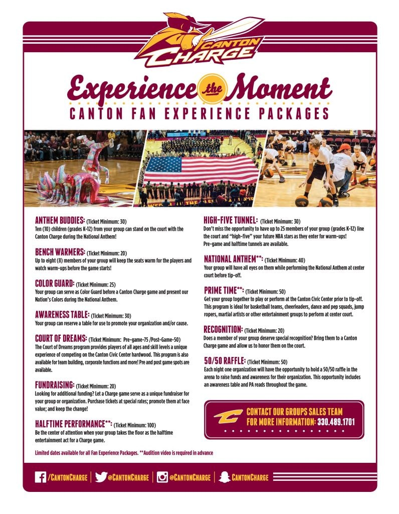 2016-17 Fan Experience Packages