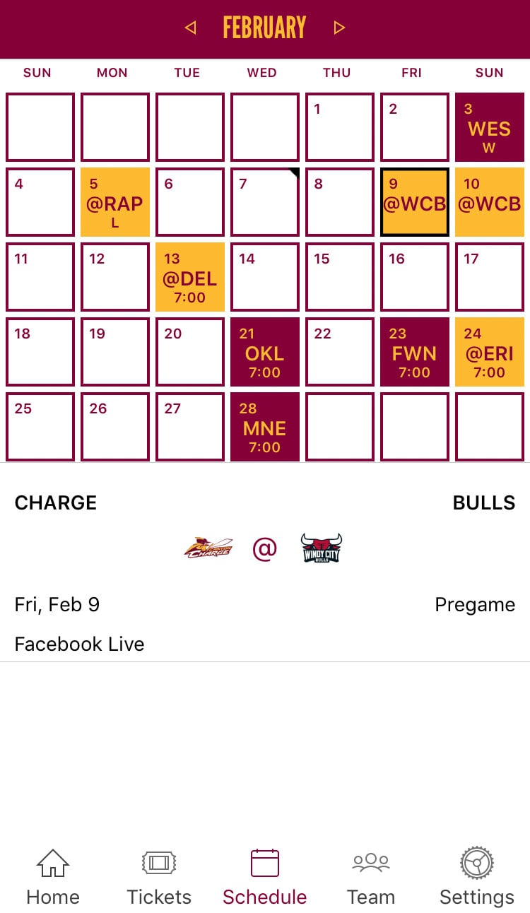 Canton Charge Mobile App