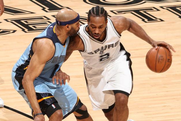 West RD 1: Kawhi Drops Playoffs-High 37, Spurs Swat Grizzlies Away