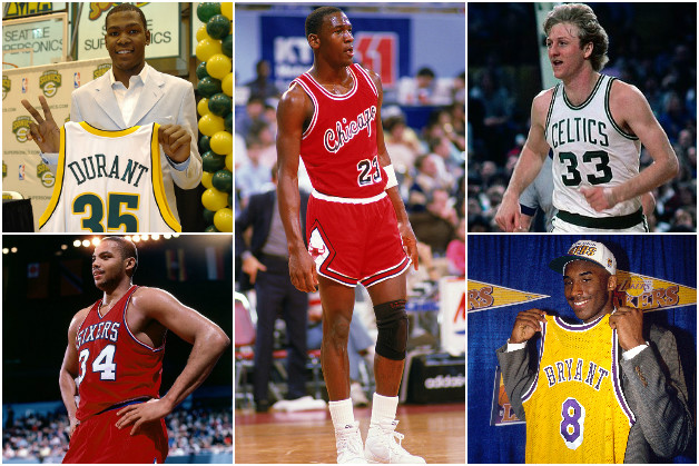 Six NBA Players Who Were Not Drafted Number 1 But Went On To Become Legends