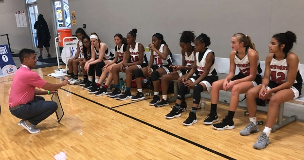 Tamika Catchings, T.J. Leaf Take in the Action on Day 2 in the Midwest