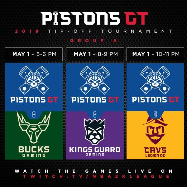 Pistons GT 2018 Tip-off Tournament schedule